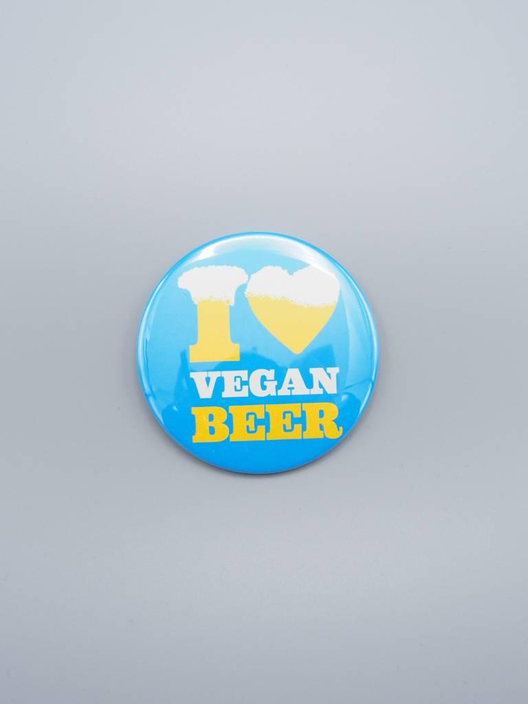 "I Love Vegan Beer 3"" Magnet"