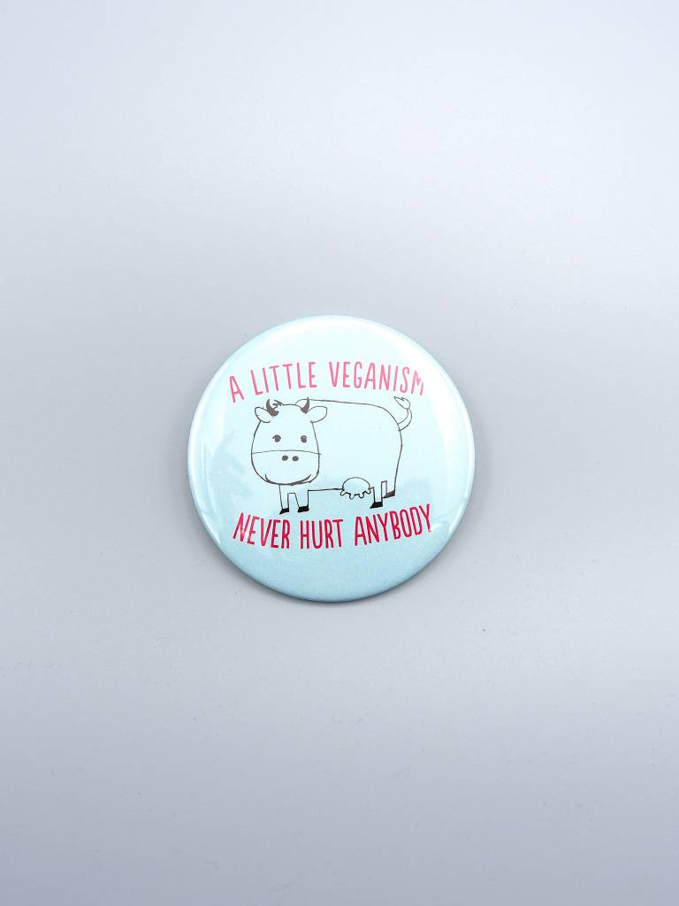 "A Little Veganism Never Hurt Anybody 3"" Magnet"