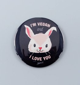 "I'm Vegan and I Love You 3"" Magnet"