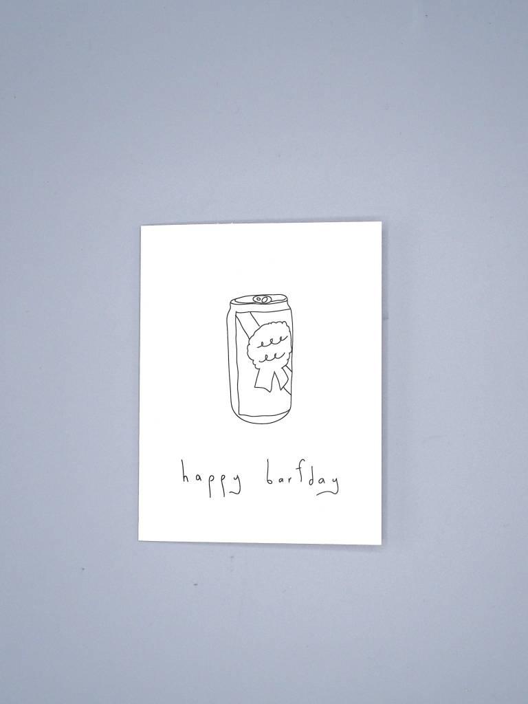 Happy Barfday Card