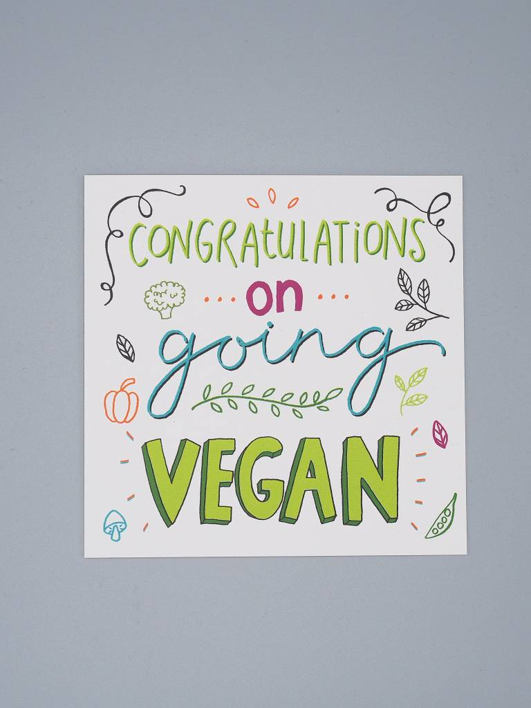 Congratulations on Going Vegan Card