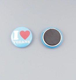 """I Heart Vegans 1"""" Magnet"""