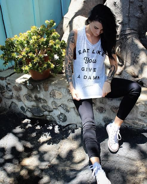 SALE: Eat Like You Give A Damn Women's Muscle Tank