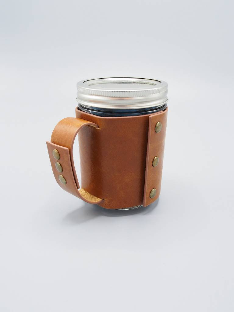 Faux Leather Sleeve with Handle