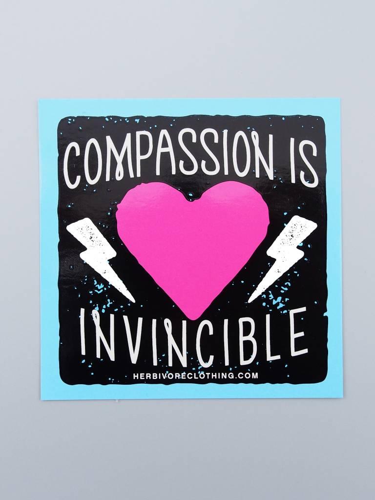 Compassion Is Invincible Bolt Sticker