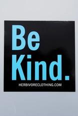 Be Kind. Black Sticker