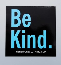 Be Kind. Black Sticker