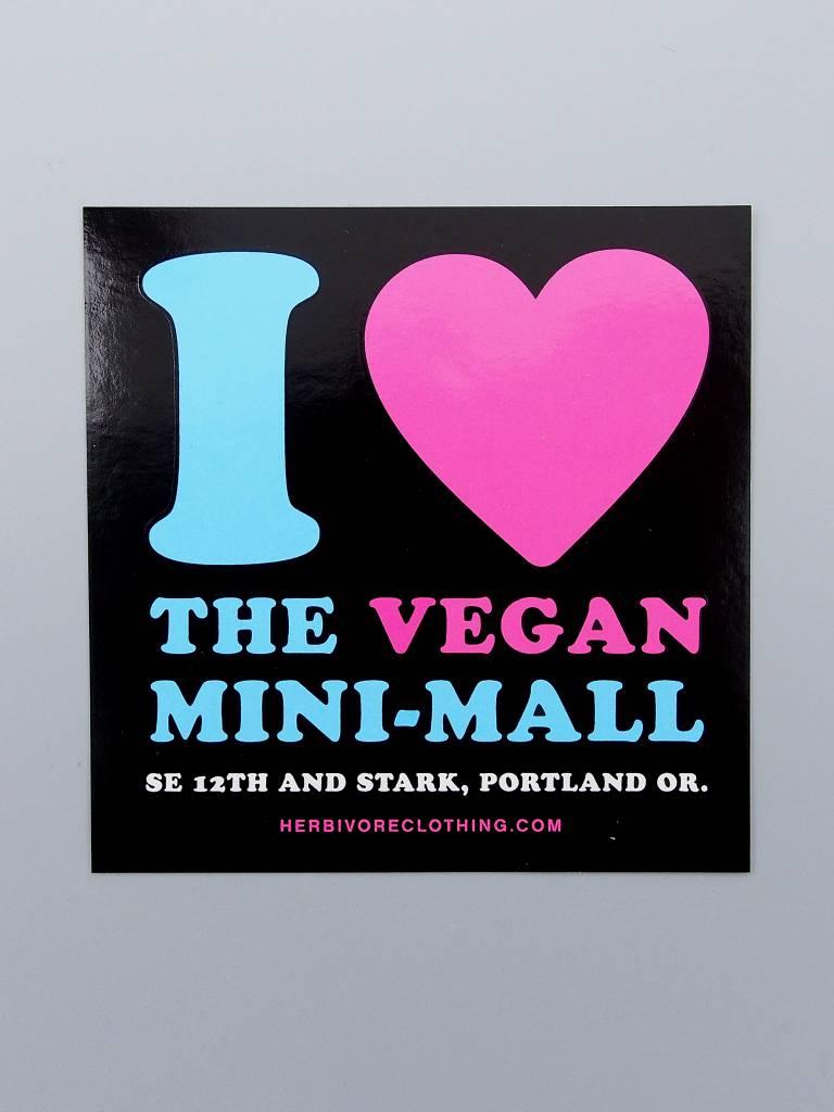I Heart the Vegan Mini-Mall Sticker