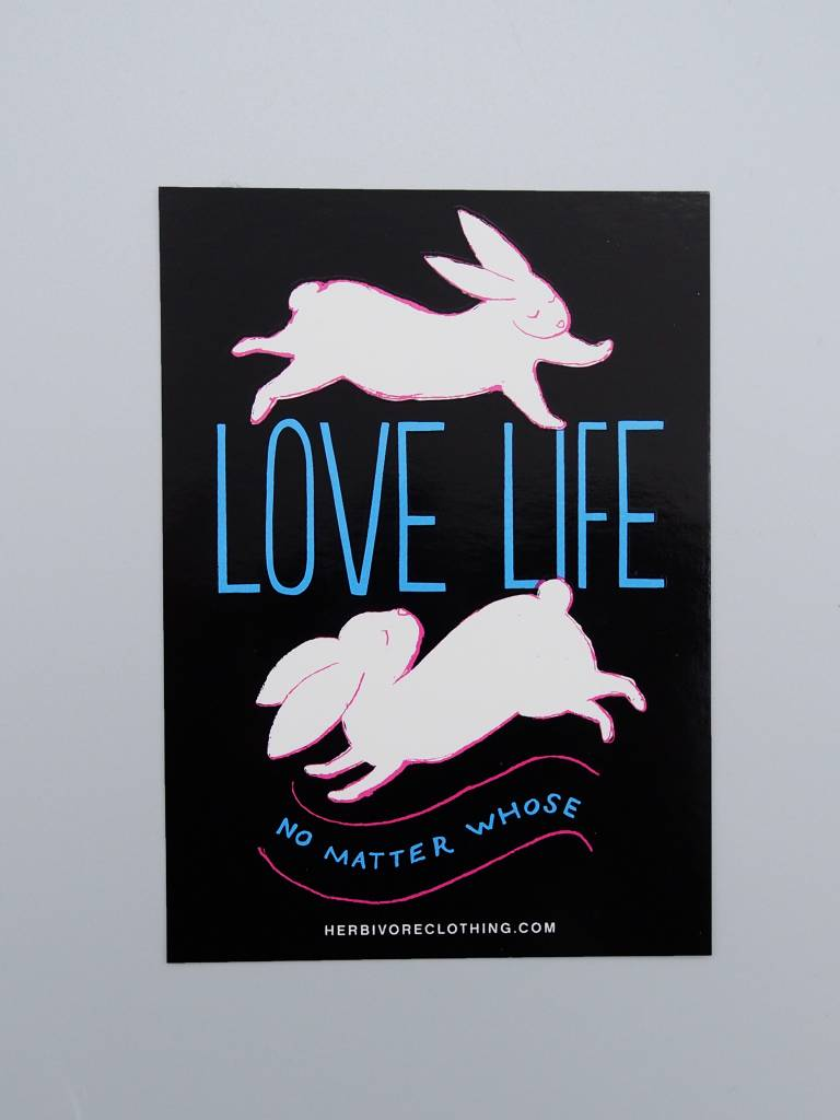 Love Life No Matter Whose Bunny Sticker