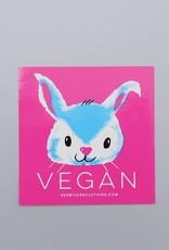 Vegan Bunny Sticker