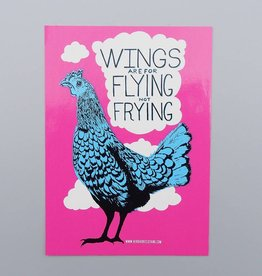 Wings are for Flying, Not Frying Sticker