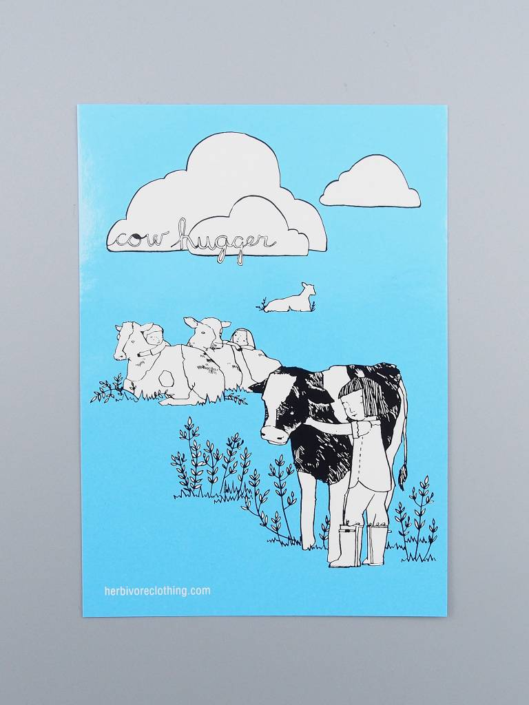 Cow Hugger Sticker