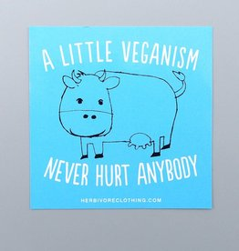 A Little Veganism Never Hurt Anybody Cow Sticker