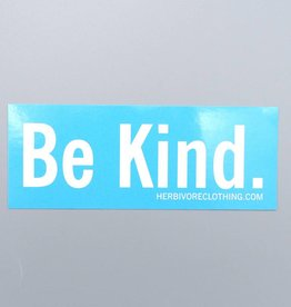 Be Kind. Blue Sticker