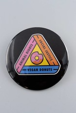 "Animal Rights, Social Justice, Vegan Donuts 3"" Magnet"