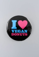 I Heart Vegan Donuts Button