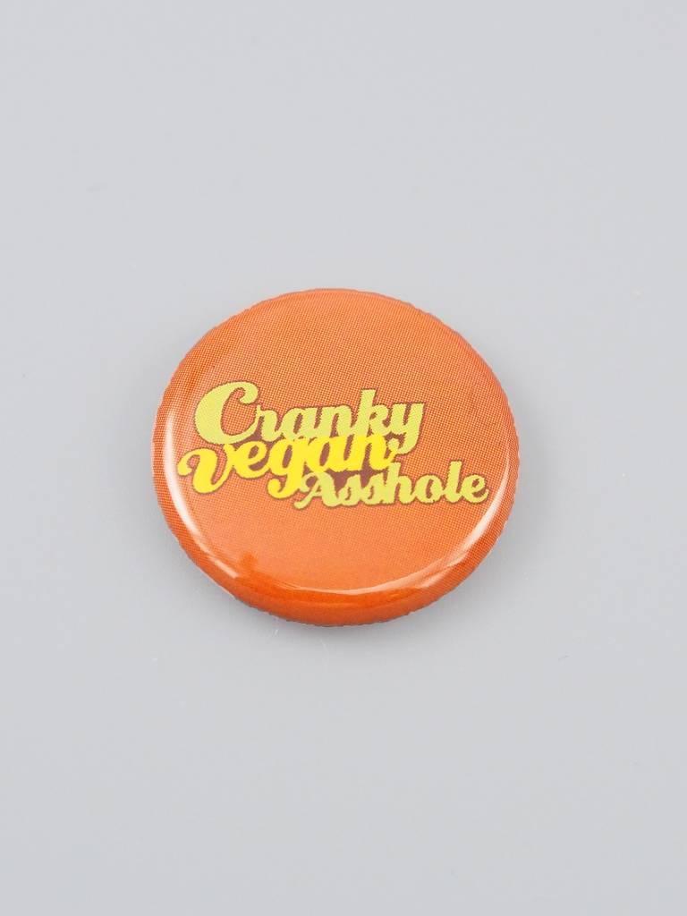 Cranky Vegan Asshole Button