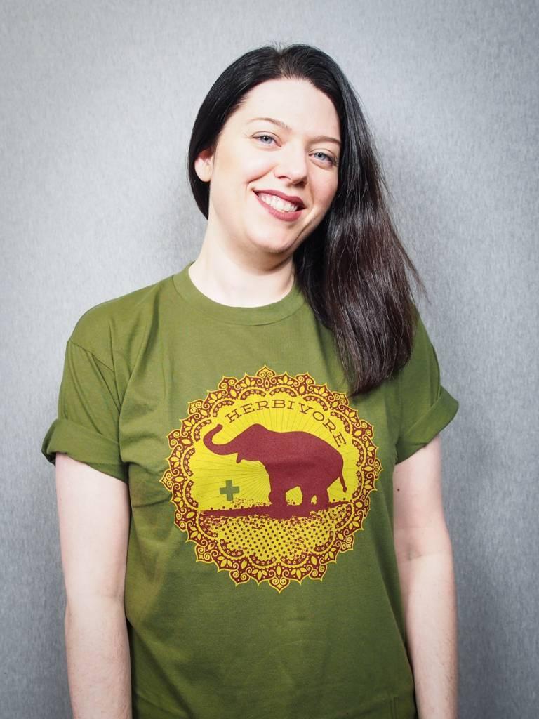 SALE: Good Luck Elephant Green Tee!