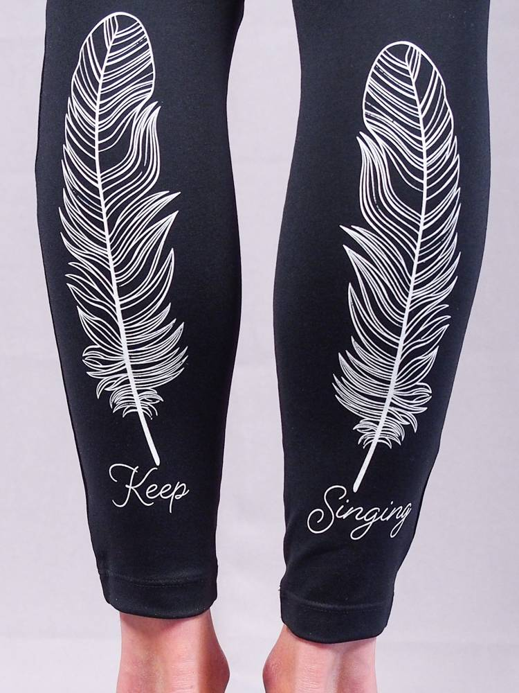 Keep Singing Feather Legging