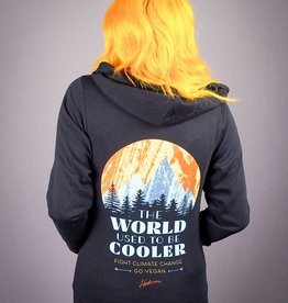 The World Used To Be Cooler Zip-Up Unisex Hoodie ::Size XS Only::
