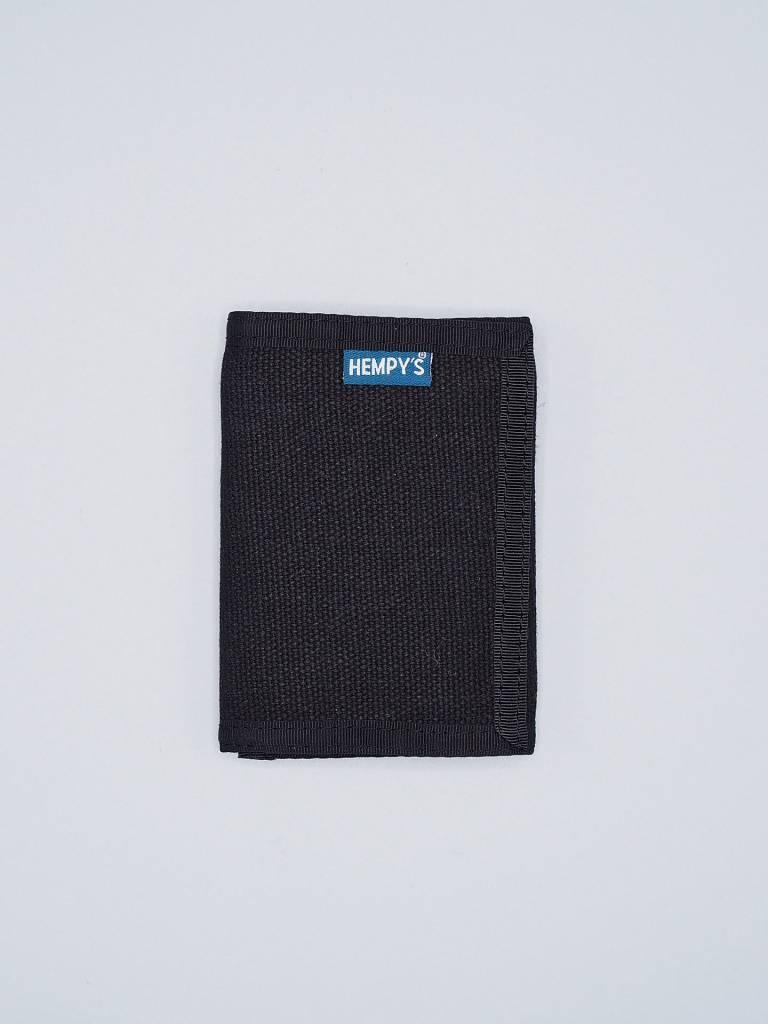 Hempy's Tri-Fold Wallet Black w/ Black Trim