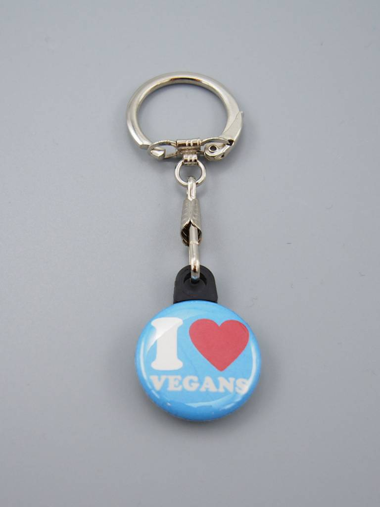 I Heart Vegans Key Chain