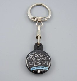 Listen To Your Heart Key Chain