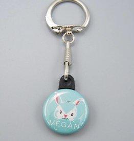 Vegan Bunny Key Chain