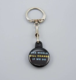 The World Will Change If We Do Key Chain