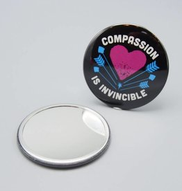 Compassion Is Invincible Arrows Pocket Mirror