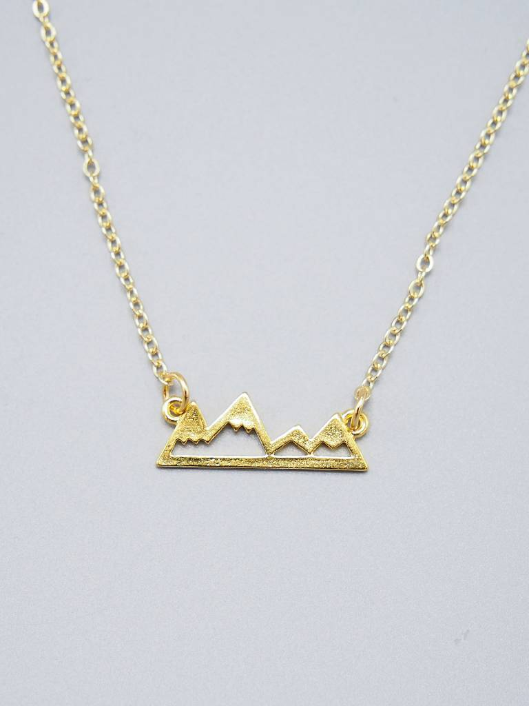 Mountain Range Necklace by Mishakaudi