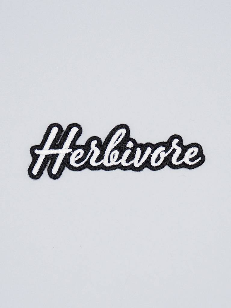 Herbivore Scripty Font Iron-On Patch