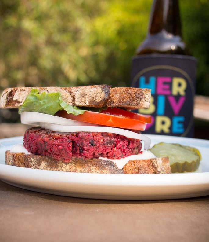 LOVE IS ROASTED BEET BURGERS