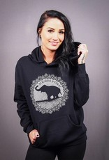 Good Luck Elephant Black Pullover Hoodie