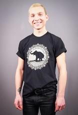 Good Luck Elephant Black Unisex Tee