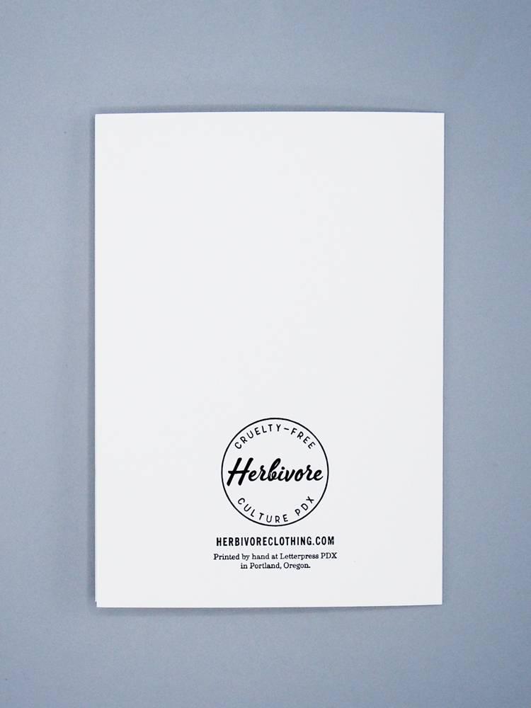 Vegans Are Radical Letterpress Card