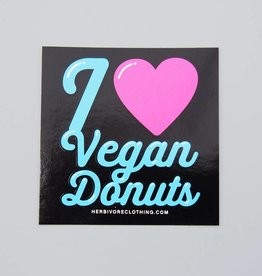 I Heart Vegan Donuts Sticker