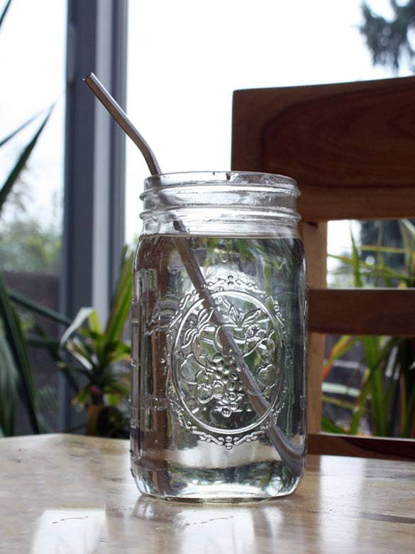 Bent  Stainless Steel Drinking Straw