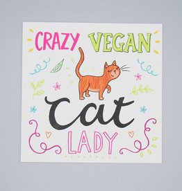 Crazy Vegan Cat Lady Card