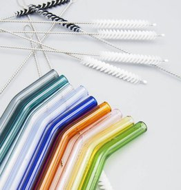 Simply Straws Bent Glass Straw