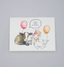 Happy Vegan Birthday Card