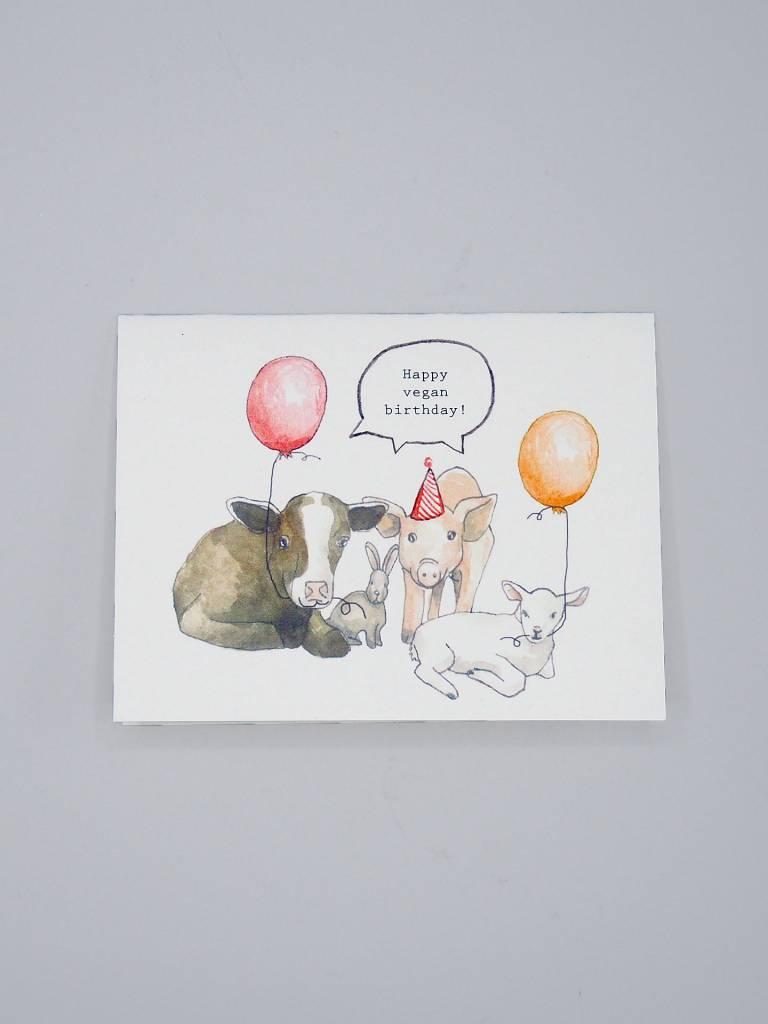 Happy Vegan Birthday Card