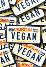 CA Vegan License Plate Patch