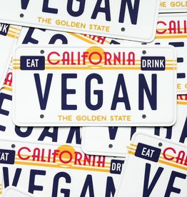 CA Vegan License Plate Sticker