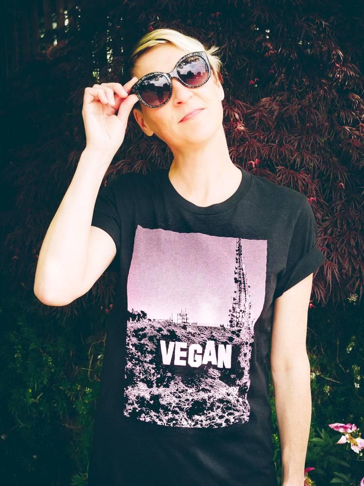 Pink & Black Vegan Hollywood Tee