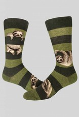 Sloth Stripe Men's Crew Sock from Mod Socks