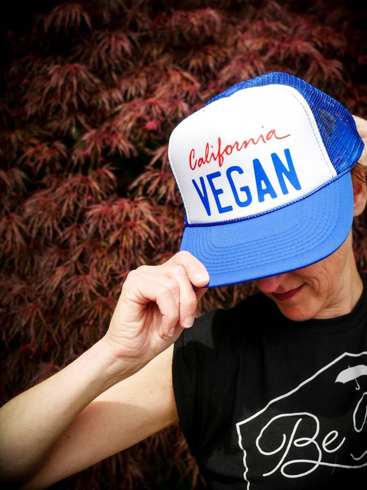 California Vegan Blue Trucker Hat