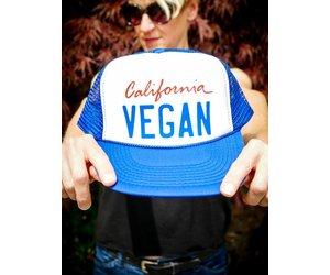 2395a0ed61cee Eat Drink Vegan Black   Black Eco-Trucker Hat - The Herbivore Clothing  Company
