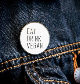 Eat Drink Vegan Enamel Pin