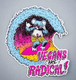 Vegans Are Radical Die Cut Sticker